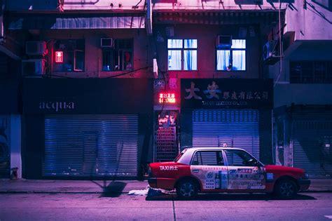 wallpaper kowloon hong kong china vaporwave neon