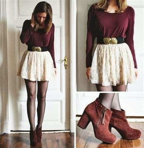 Cute Casual Fall Outfit with Skirt u2013 Latest Street Fashion Trend Idea Blog For Teenage - Bored ...