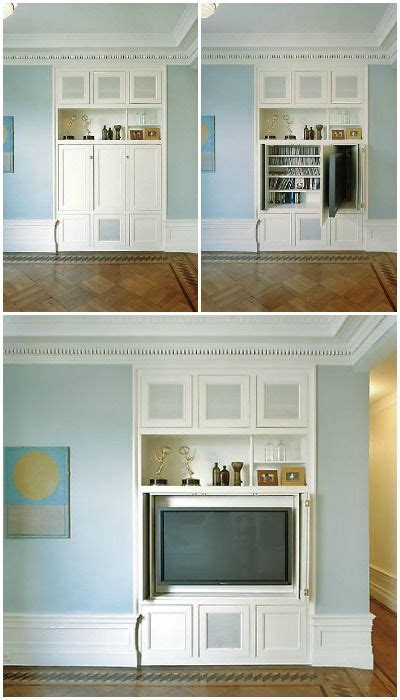 Tv Wall Cupboard by This Designer Solution Is Brilliant A Built In Tv