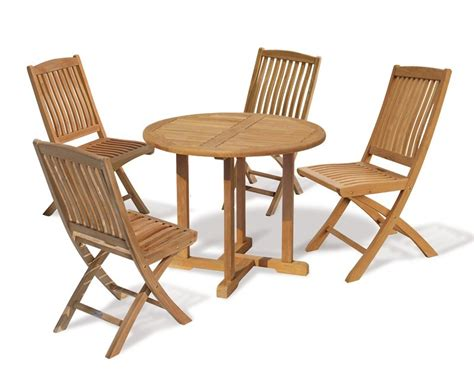 canfield 4 seater teak garden table and folding