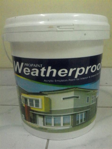 jual cat tembok weatherproof kg warna cream  lapak
