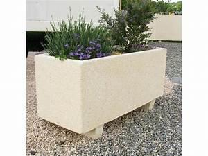 Fabriquer Grande Jardiniere Beton : jardini re en b ton rectangulaire ramses contact emrodis ~ Melissatoandfro.com Idées de Décoration