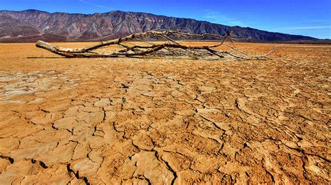 Cracked Dry Lake Bed By Stephen Dennstedt