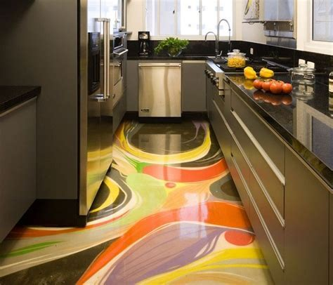 Cute Kitchen Design About Best 3d Flooring Art Murals With