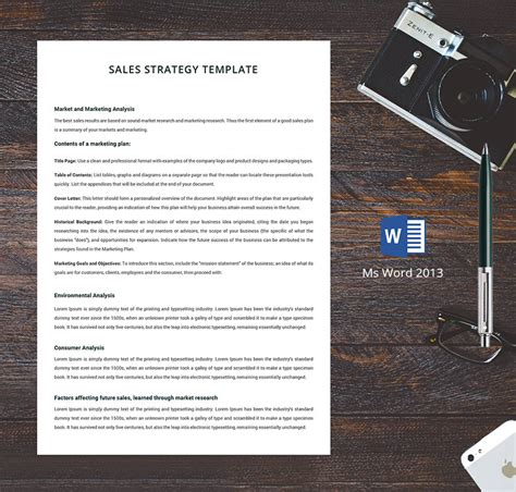human resource strategy templates sales