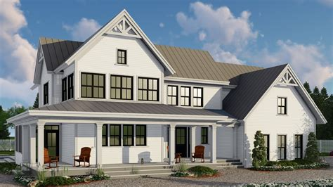 contemporary  story farm house style house plan