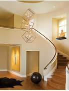 Pendant Lighting For Stairway by Interior Modern 2 Story Entryway Lighting Design With Unique Hanging Lamp Fr