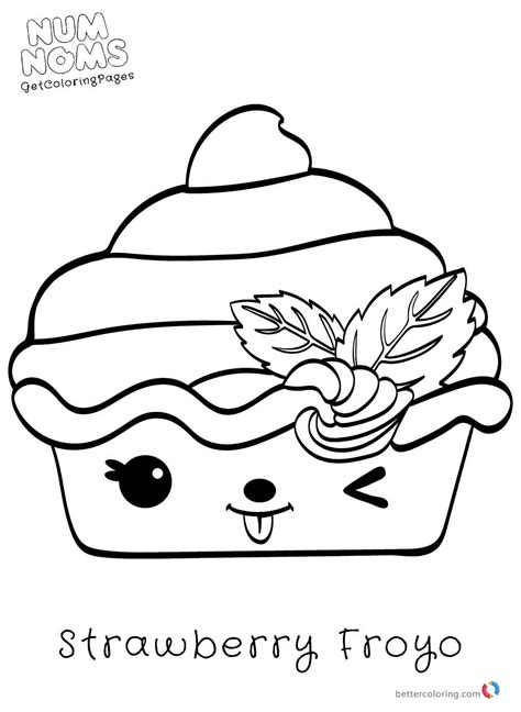 Kleurplaat Num Noms by Num Noms Coloring Pages For Free Printable Coloring