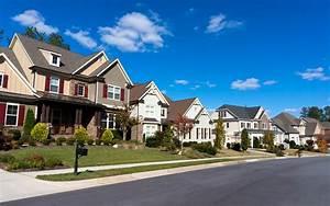 Street, Of, Large, Suburban, Homes