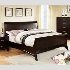 Darien Contemporary Espresso Sleigh Bedroom Set With