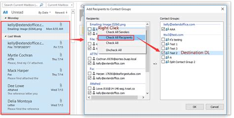 outlook email contact distribution send recipients emails sender adding multiple ad