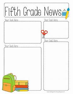 completely editable newsletter for all grades the With 5th grade newsletter template