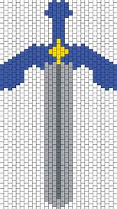 Minecraft Dimond Armor Perler Bead Pattern