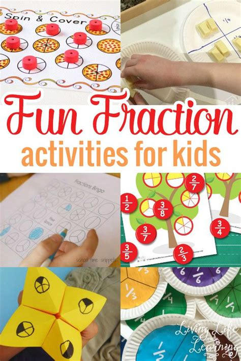 fun fraction activities  kids  images fun