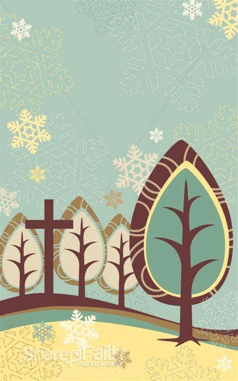 trees  cross winter bulletin cover christmas bulletins
