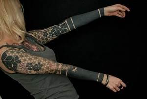 Mix od Blackwork tattoo Sleeves for Girl  Best Tattoo Ideas Gallery