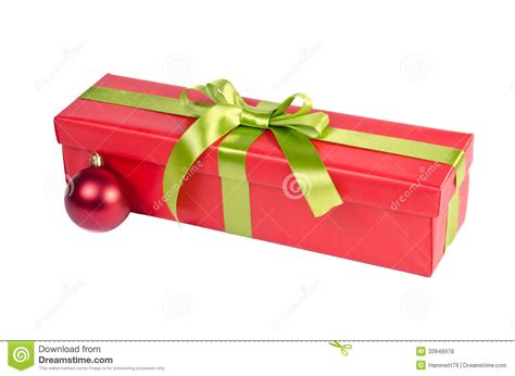 christmas gift box with ornament royalty free stock photos