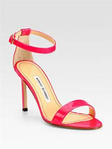 Manolo Blahnik Chaos Patent Leather Ankle Strap Sandals in ...