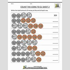 Counting Money Worksheets Up To $1