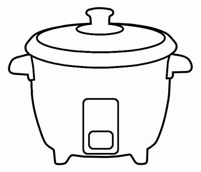 Cooker Rice Clipart Outline Naver Cliparts Clip