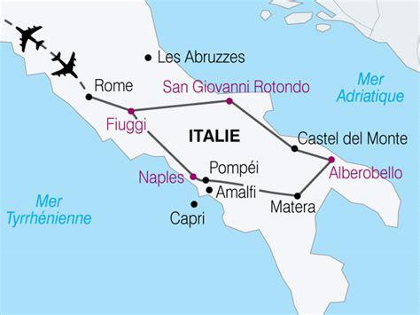 Carte Sud De Et Italie by Info Sud Italie
