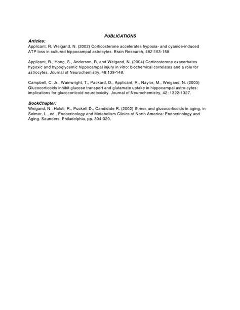 resume for phd application biotechnology phd cv biotechnology