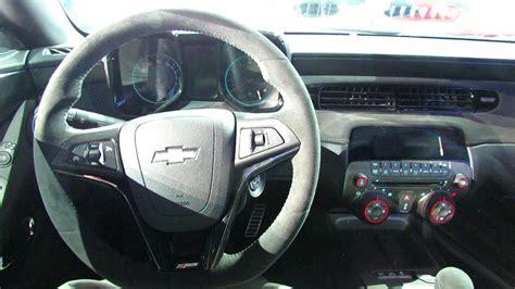 Z28 Camaro Interior by 2014 Chevrolet Camaro Z28 Interior And Engine Walkaround
