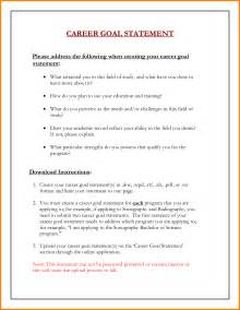 goal statement for career 5 career goal statement exle cashier resumes