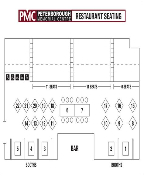 Free Restaurant Seating Chart Template by Free Restaurant Seating Chart Template 28 Images Table
