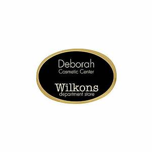 engraved metal name badge 1 34 x 2 12 oval blackgold by With custom name badges office depot
