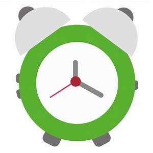 Green flat alarm clock - Transparent PNG & SVG vector