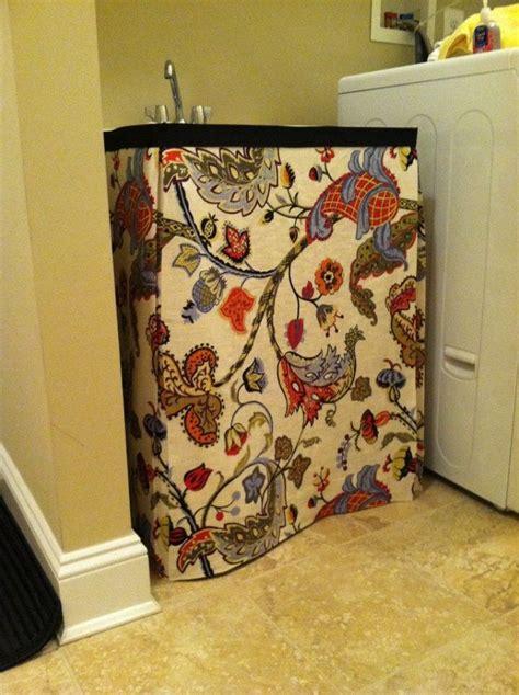 Burlap Utility Sink Skirt by 17 Best Ideas About Bathroom Sink Skirt On