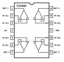 lm324 datenblatt pdf quad operatioal amplifier contek With lm324 quad op amp