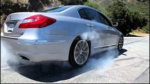 Hyundai Genesis 5.0 R-Spec First Burnout - YouTube