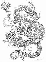Coloring Pages Dragon Whip Razor Tail Fantasy Its Tattoo Colouring Unicorn Template sketch template