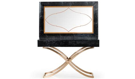 modern console table with mirror a x aversa modern console table mirror in black crocodile free shipping get furniture