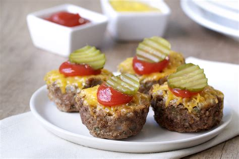 cheeseburger mini meatloaves hungry girl
