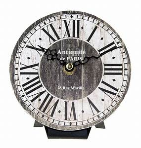 Römische Zahlen Uhr : franz sisch inspirierte notleidende r mische zahlen kleine runde uhr grau ebay ~ Orissabook.com Haus und Dekorationen