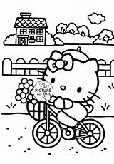Coloring Pages Kitty Hello Lawn Bicycle Colouring Mower Spongebob Printable Sheets Zero Turn Template Pineapple Riding Print Cartoon Printables Rides sketch template