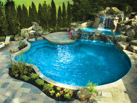pools in backyards backyard escapes with gib san pool landscape creations city life magazine vaughan woodbridge