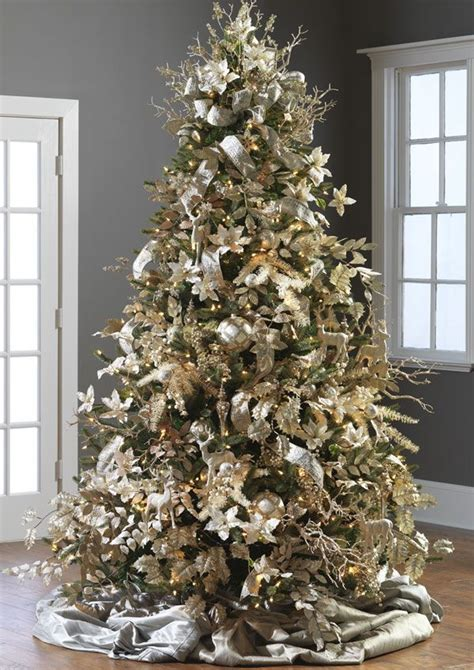 champagne frost christmas tree theme  christmas tree