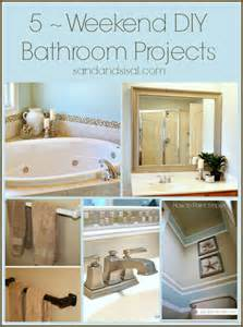 diy ideas for bathroom 5 weekend projects for the bathroom sand and sisal