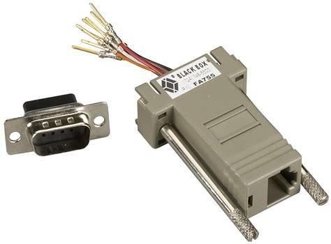 modular adapter kit db9 rj45 8 wire black box