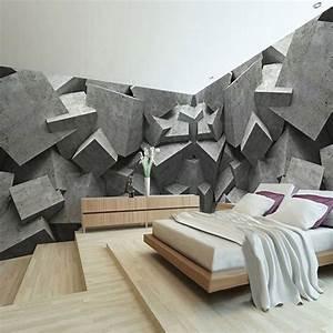 Custom Any Size 3D Wall Mural Wallpaper Concrete Brick Art ...