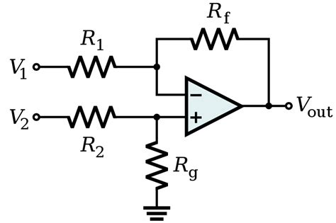 File Amp Differential Amplifier Svg Wikimedia Commons
