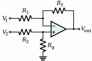 fileop amp differential amplifiersvg wikimedia commons With single opamp difference amplifier circuit diagram tradeoficcom