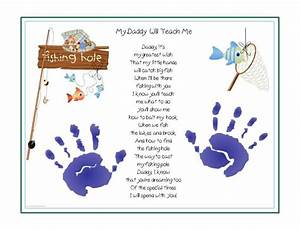 DADDY Teach Me~FISHING Poem Print Baby / Child Handprints ...