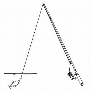 Fishing Pole Coloring Pages Sketch Coloring Page