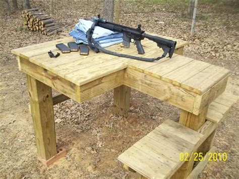 shooting bench plans wood  woodworking