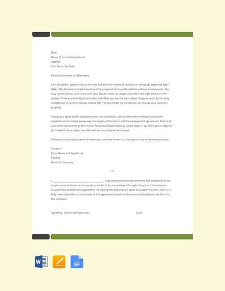 sample appointment letters word apple pages google docs